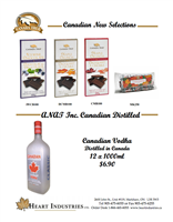 Boxed Chocolate Bars, Maple Kisses & Canadian Vodka